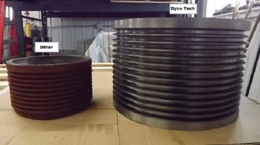 Tractor PTO dyno Rotor and Drum Comparison