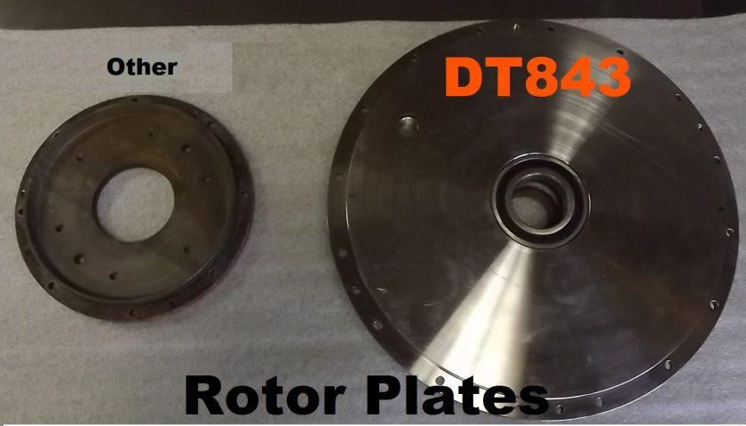 Tractor PTO dyno Rotor Plate Comparison